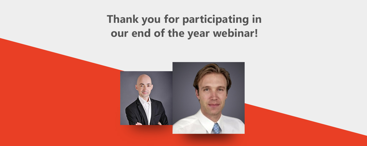 Thank you for participating in our end of the year webinar!