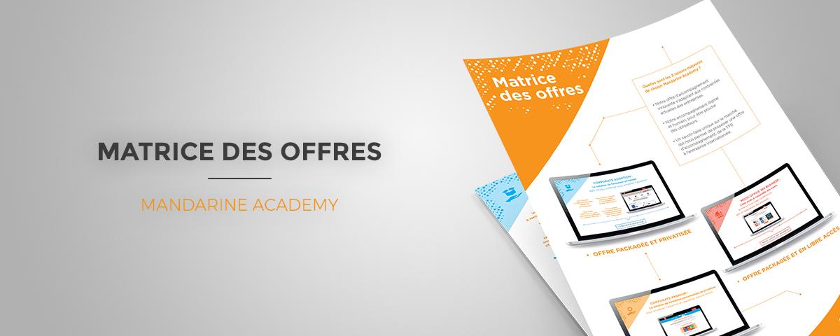 Téléchargez la matrice de nos offres ! | Mandarine Academy