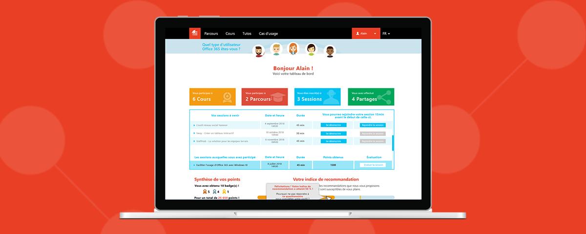 Un moteur de recommandation sur le MOOC Office 365 !
