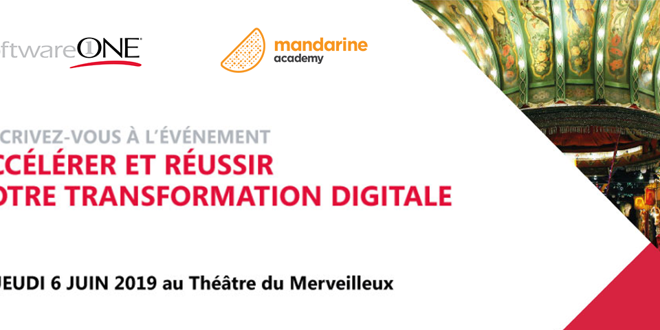 """Mandarine, partenaire de SoftwareOne pour l'événement """"Accélérer et réussir votre transformation digitale"""""""