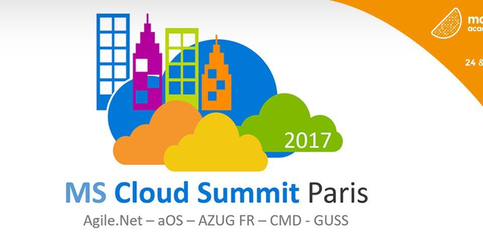 Mandarine sera présent au Microsoft Cloud Summit