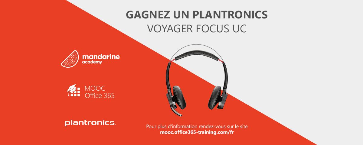 Lancement du jeu-concours MOOC Office 365 & Plantronics !