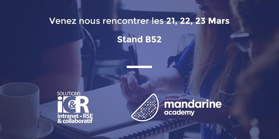 Retrouvez Mandarine Academy sur le Salon Intranet RSE & Collaboratif !