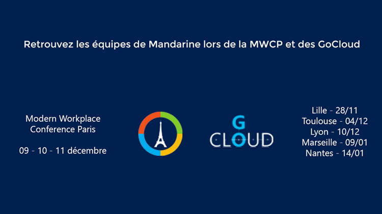 Mandarine, sponsor du Modern Workplace Conference Paris 2019