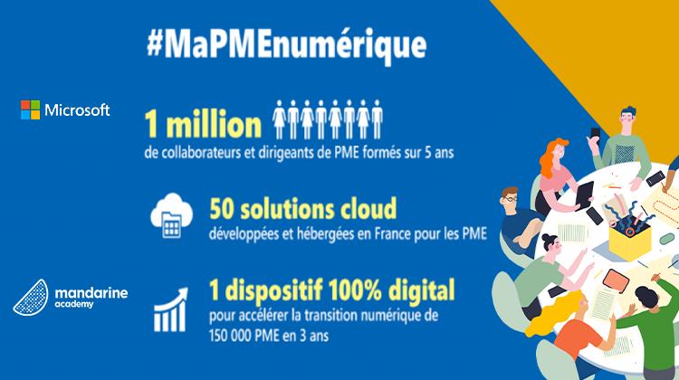 Mandarine Academy s'associe à Microsoft pour lancer #MaPMEnumérique