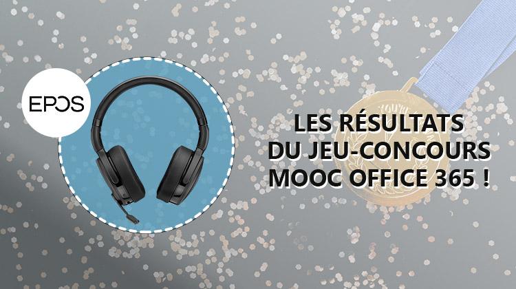 Les résultats du jeu-concours MOOC Office 365 & EPOS